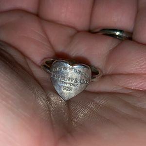 Tiffany & Co. New York 925 Heart Ring